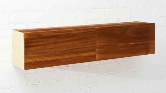 Hide N Seek Acacia Wood Storage Shelf ($149; cb2.com)