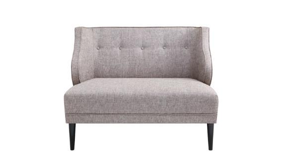 Madison Park Armelle Tufted Round Arm Seat Settee ($399.99, originally $549.99; overstock.com)