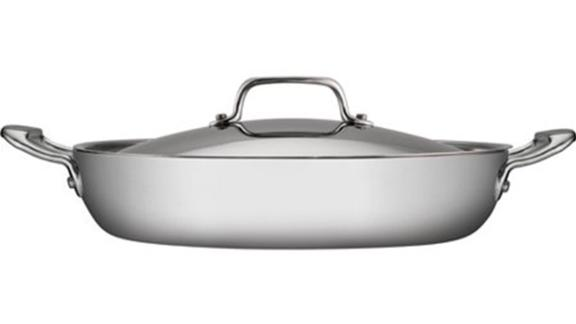 Tramontina 4-Qt Stainless Steel Tri-Ply Clad Covered Casserole Pan ($73.29; walmart.com)