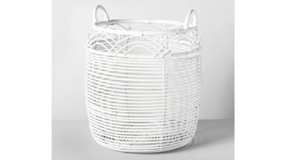 "18"" x 18"" Woven Rattan Basket White - Opalhouse ($34.99; target.com)"