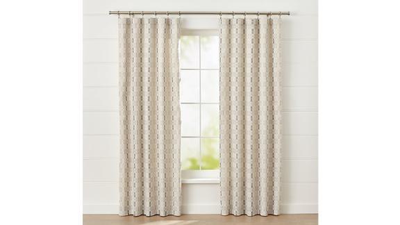 """Pastore Neutral Curtain Panel 50""""x108"""" ($119.95; crateandbarrel.com)"""