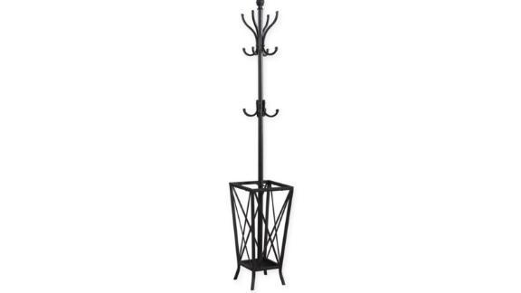 Metal Coat Rack with Umbrella Holder in Dark Grey ($69.99; bedbathandbeyond.com)