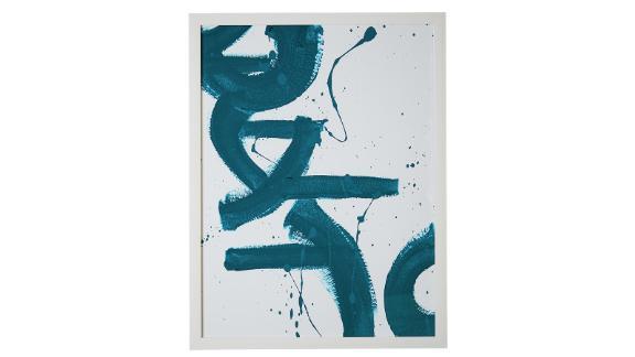 MoDRN Scandinavian Downwards Blue Strokes Wall Art ($69; walmart.com)