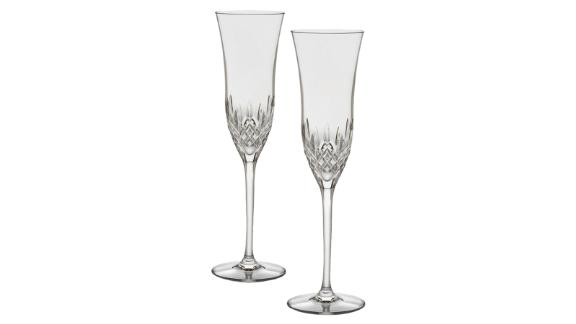 Two-Piece Lismore Essence Crystal Champagne Flutes ($160; saksfifthavenue.com)
