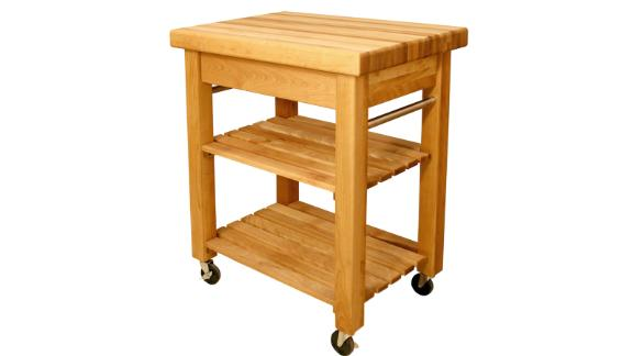 French Country Natural Kitchen Cart With Storage ($577.32; homedepot.com)
