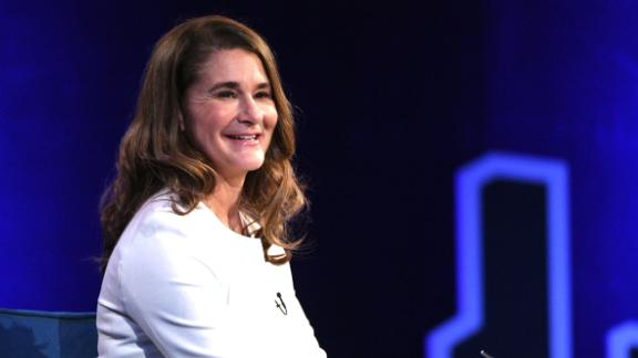NEW YORK, NEW YORK - FEBRUARY 05: Melinda Gates speaks onstage at Oprah