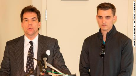 NOV 1, 2018 : Jack Burkman and Jacob Wohl speak to the media about alleged allegations against Robbert Mueller at the Holiday Inn in Rosslyn Va.(Credit Image: © John Middlebrook/CSM via ZUMA Wire) (Cal Sport Media via AP Images)
