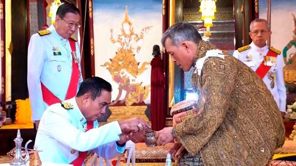 King Maha Vajiralongkorn attends the anointment ceremony.