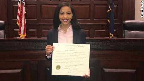 Miss USA 2019 Cheslie Christmas is a civil litigation lawyer who does pro bono work for prisoners.
