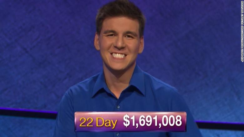 Image result for 'Jeopardy!' champion James Holzhauer wins his 23rd game, continuing his streak