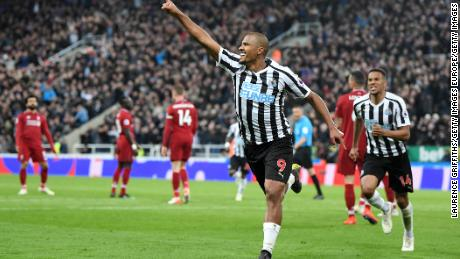 Newcastle striker Rondon was impressive throughout the match.