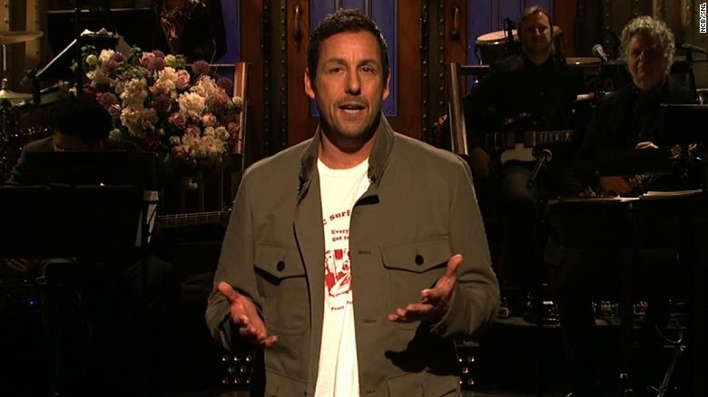 Watch Adam Sandler's emotional tribute to Chris Farley on 'SNL'