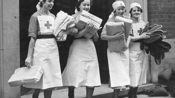 British Red Cross nurses in more