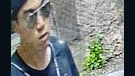 Pang is pictured on surveillence footage after the killing.