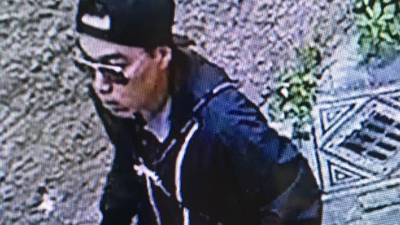 CCTV footage appears to show Michael Aaron Pang walking in the street out of the shop.