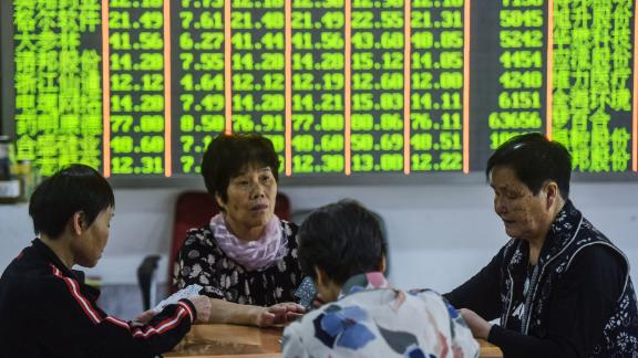 Major stock exchanges in China and Hong Kong plunged Monday morning.