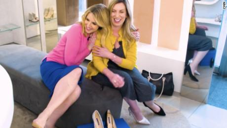 CNN's Poppy Harlow shares a moment with Boston bombing survivor Heather Abbott.