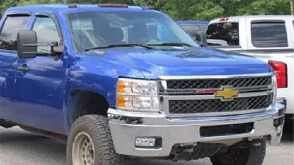 Police say a blue truck similar to this one may have been used in the abduction of Maleah Davis.