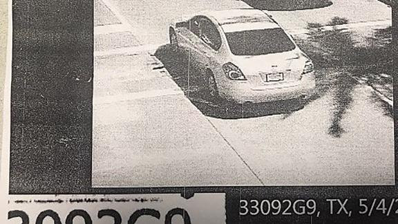 This image captures the Nissan Altima on Saturday, during the time Vence said he was in and out of consciousness.