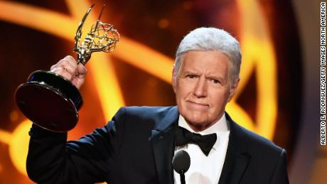 PASADENA, CALIFORNIA - Alex Trebek accepts the Daytime Emmy Award for Outstanding Game Show Host onstage during the 46th annual Daytime Emmy Awards at Pasadena Civic Center on May 05, 2019, in Pasadena, California. (Photo by Alberto E. Rodriguez/Getty Images)