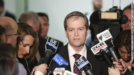 Bill Shorten speaks to the media prior to a ballot over the leadership of the Australian Labor Party at Parliament House on June 26, 2013 in Canberra, Australia.