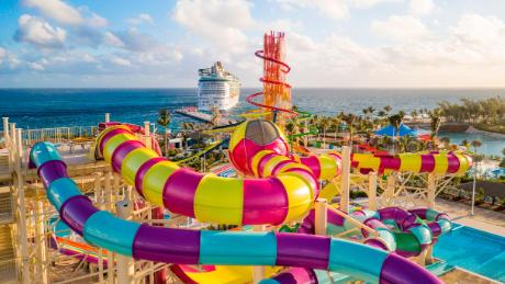 Thrill Waterpark, daring the most adrenaline-seeking guests to conquer two brag-worthy towers with 13 waterslides -- as well as the Caribbean's largest wave pool and the Adventure Pool with a family friendly obstacle course.