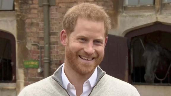 Britain's Prince Harry addresses the media after his wife Meghan, Duchess of Sussex, gave birth to their firstborn son, outside Windsor in London, Britain May 6, 2019 in this still image taken from Reuters TV. REUTERS/Reuters TV