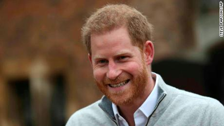 Prince Harry says he's 'over the moon' for his son