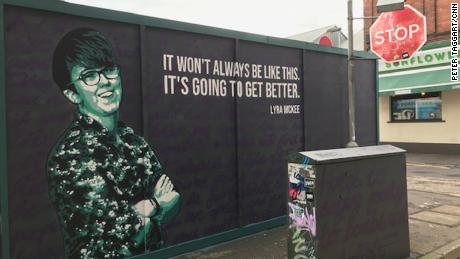 A mural of journalist Lyra McKee has been painted in the heart of Belfast.
