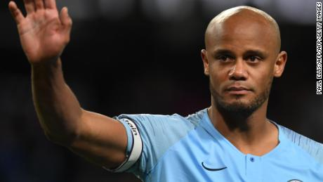 Kompany had tears in his eyes at the full-time whistle.