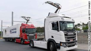 Germany is opening its first electric highway for trucks