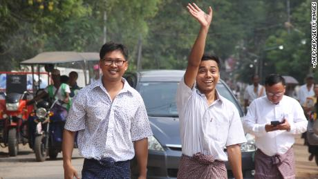 Journalists released from Myanmar prison