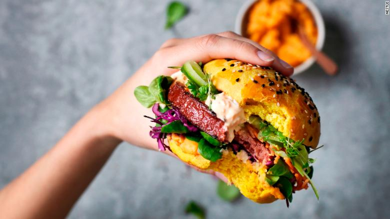 McDonald's is using the Garden Gourmet Incredible Burger, seen above, in its meatless burgers in Germany.
