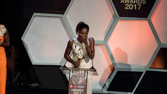 Oshoala has been named African Women's Footballer of the Year in 2014, 2016 and 2017