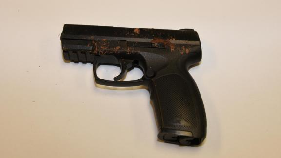 Police say this replica gun was realistic and had mud on it from when Lorenzo dropped it outside.