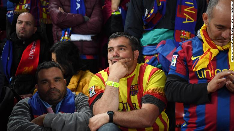 Barcelona fans could scarcely believe what they were witnessing.