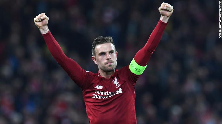 Liverpool captain Jordan Henderson fought back tears at the final whistle.