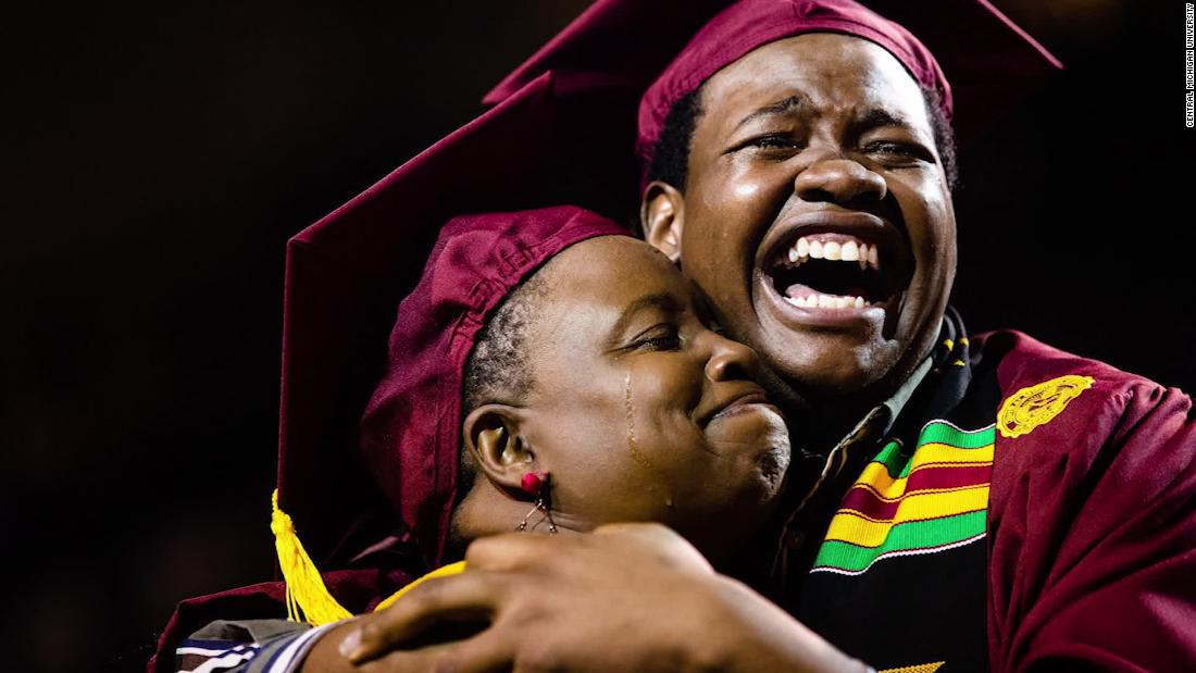 A mother skipped her own graduation to attend her son's. So his school decided to confer both their degrees