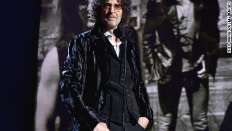 Howard Stern speaks during the 33rd Annual Rock & Roll Hall of Fame Induction Ceremony on April 14, 2018 in Cleveland, Ohio.
