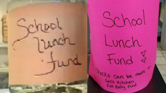 School lunch donation jars set up at restaurants have attracted thousands of dollars.