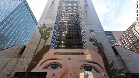 The largest mural stretching 13 stories was commissioned for the ILO's centenary