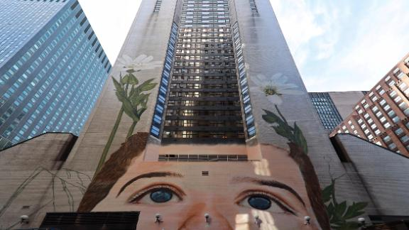In April this year, to mark the ILO's centenary, SAM also unveiled its largest mural, by the artist Jorge Rodriquez-Gerada. Stretching 13-stories high -- on the side of the Westin Hotel Grand Central at 212 East 42nd Street -- it features the face of a small boy, with two towering flowers on either side.