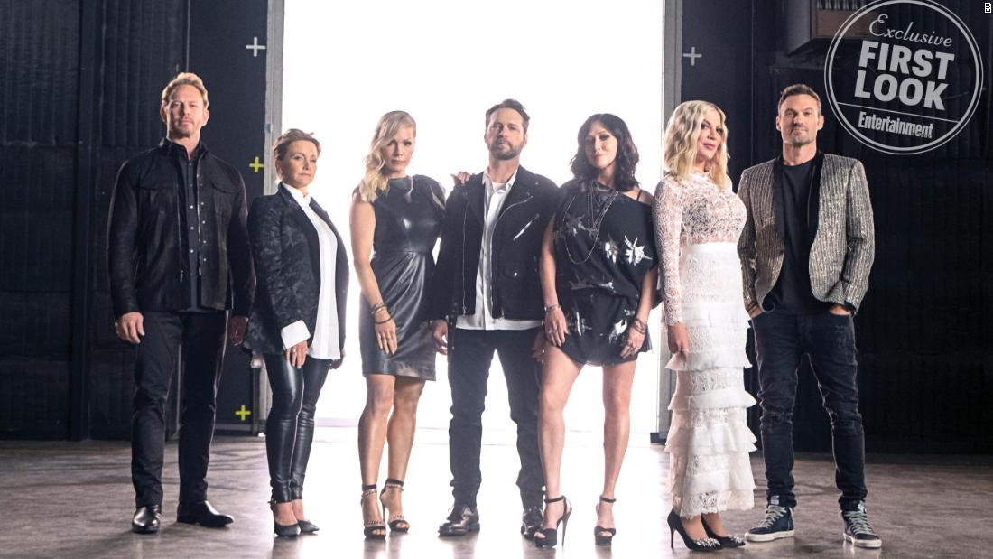 The 'Beverly Hills, 90210' cast dances through the reboot's opening credits