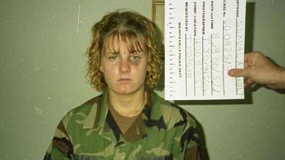 Harmony Allen three days after she was raped by her Air Force instructor, Master Sgt. Richard Collins, in August 2000.
