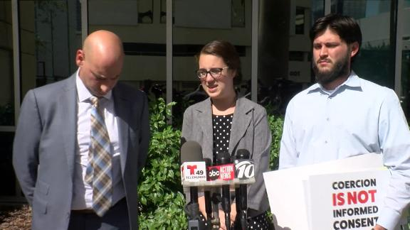Noah's parents speaking to reporters after the court's decision Wednesday.