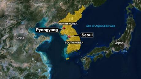 North Korea projectile map