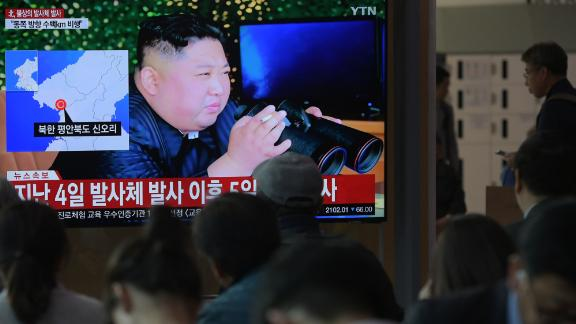 """South Korea said it """"suspected"""" North Korea had launched """"two short-range missiles."""""""