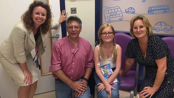 Dr. Helen Spencer, Graham Hatfull, Isabelle and her mother, Jo Carnell-Holdaway.