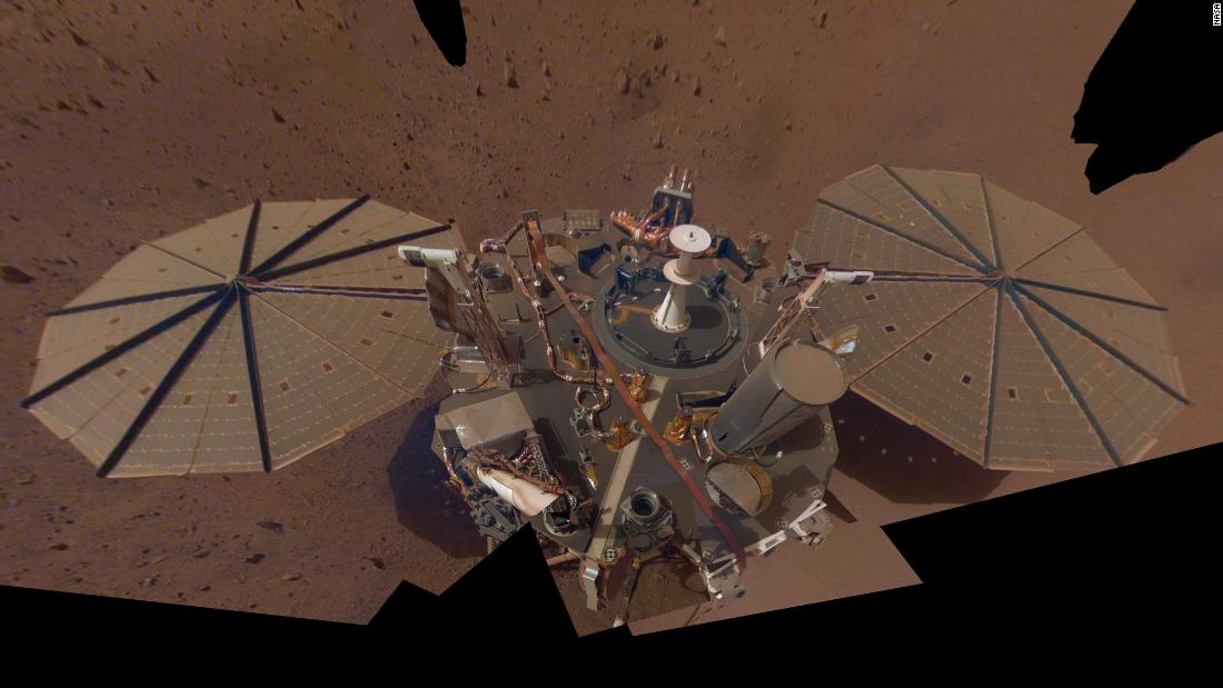 InSight's second selfie on Mars reveals dust on the lander.