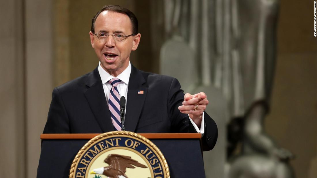 Rod Rosenstein says he made call to release Peter Strzok-Lisa Page texts